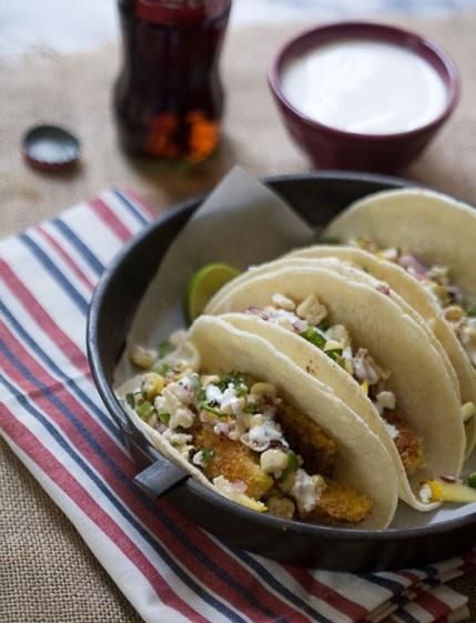 Sqash Tacos with Corn Salsa